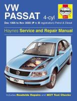 VW Passat 4-Cyl Petrol & Diesel (Dec 96 - Nov 00) P To X