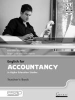 English for Accountancy in Higher Education Studies Teacher's Edition