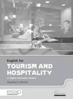 English for Tourism and Hospitality Teacher Book, English for Tourism and Hospitality Teacher Book Teacher's Book