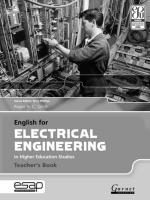 English for Electrical Engineering in Higher Education Studies Teacher's Edition