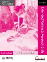 English for Academic Study: Extended Writing & Research Skills Teacher's   Book - Edition 2 2012 2nd edition