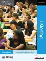 English for Academic Study: Listening Course Book with AudioCDs - Edition 2 2012 2nd edition