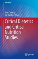 Critical Dietetics and Critical Nutrition Studies 1st ed. 2019