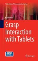 Grasp Interaction with Tablets Softcover reprint of the original 1st ed. 2015