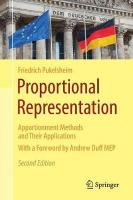 Proportional Representation: Apportionment Methods and Their Applications 2nd ed. 2017