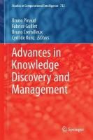 Advances in Knowledge Discovery and Management: Volume 7 1st ed. 2018