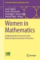 Women in Mathematics: Celebrating the Centennial of the Mathematical Association of America 1st ed. 2017
