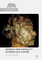 Animals and Animality in Primo Levi's Work 1st ed. 2018