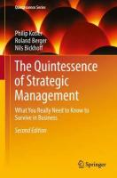 Quintessence of Strategic Management: What You Really Need to Know to Survive in Business 2016 2nd Revised edition