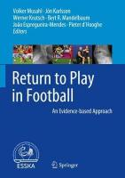 Return to Play in Football: An Evidence-based Approach 1st ed. 2018