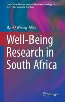 Well-Being Research in South Africa 2013 ed.