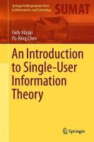 Introduction to Single-User Information Theory 1st ed. 2018