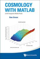 Cosmology With Matlab: With Companion Media Pack