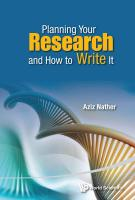 Planning Your Research And How To Write It: A Practical Guide for Residents