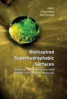 Bioinspired Superhydrophobic Surfaces: Advances and Applications with Metallic and Inorganic Materials